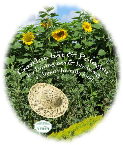 gardenhat and potager for plastic free and environmentaly friendly food