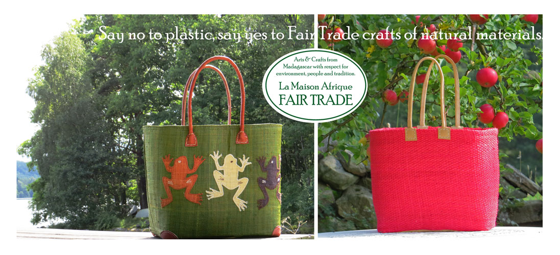 no to plastic bags yes to fairtrade shopping baskets